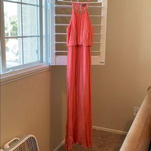 Long beautiful sunset orange dress
